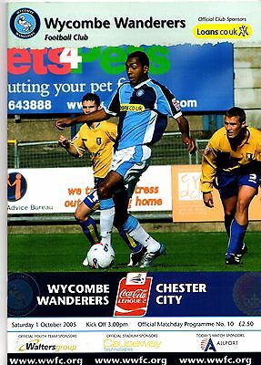 2005-2006  Wycombe Wanderers v Chester City