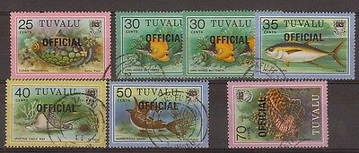 Tuvalu:1989:Fish Opt Official Stamps,Used,