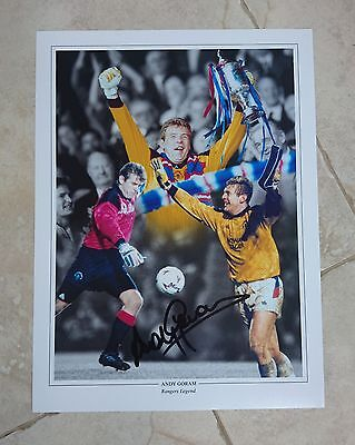 Andy Goram - Glasgow Rangers Fc - Huge Signed Photo