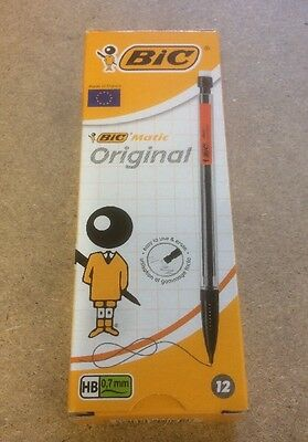 Bic Matic Mechanical Pencil with 3 HB 0.7mm Lead. Box of 12