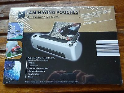 Pack of 40 A4 Laminating Pouches (80 Microns)