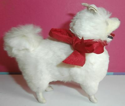 """WOW! Vintage 4"""" Real Fur Dog for Antique French or German Bisque Fashion Doll"""