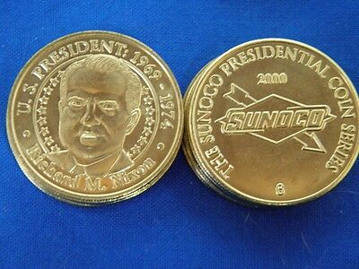 US President Dwight D Eishenhower Sunoco Presidential Coins Lot of 10 Tokens