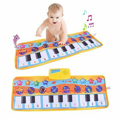 80x28CM Multifunction Baby Children Piano Music Blanket Musical Carpet Mat XRAU