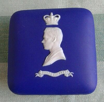 Wedgwood Royal Blue Jasper Dip King Edward V111 1937 Coronation Trinket Dish.