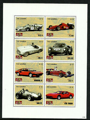 Gambia 3070 Mint Never Hinged S/Sheet - Racecars