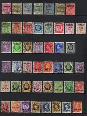 Commonwealth Gb Overprints Mint & Used Selection