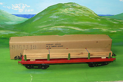 Hornby No 2 Timber Wagon with load - boxed  - O Gauge