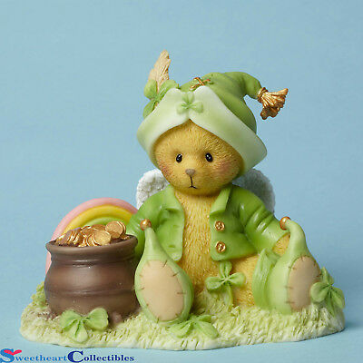 Cherished Teddies 4051037 Bear with Pot Of Gold New St Patrick