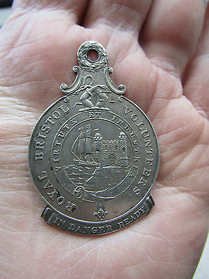 1814 Silver Medal / Badge  ROYAL BRISTOL VOLUNTEERS  ' French Invasion ' VGC