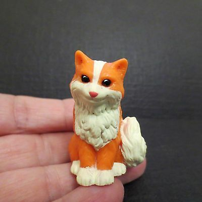 Miniature Plastic Orange White Fox Figurine 2""