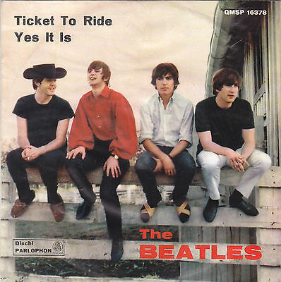 THE BEATLES - ticket to ride / yes it is 7""