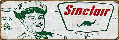 Sinclair Gasoline And Motor Oil 6' x 18 ' Vintage Look Reproduction Metal Sign