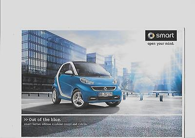 Smart Fortwo Edition 'iceshine' Coupe And Cabrio Sales Brochure 2012