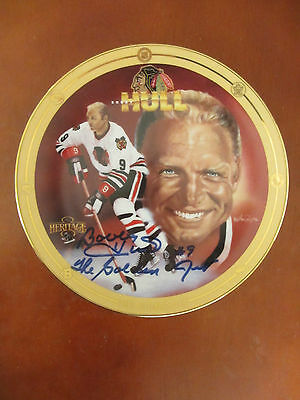 Vintage Heritage Legends of Hockey Bobby Hull The Golden Jet Autographed  Plate