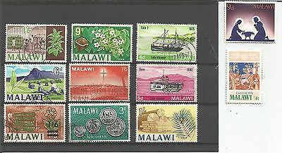 Malawi Christmas Timber Tobacco Tea Industry Tung Coinage Lake Steamer 11 Stamps