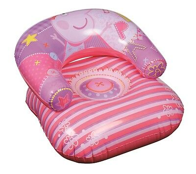 Childrens Inflatable Peppa Pig Chair Moon Lounger Pool Garden Or Indoor Seat 40