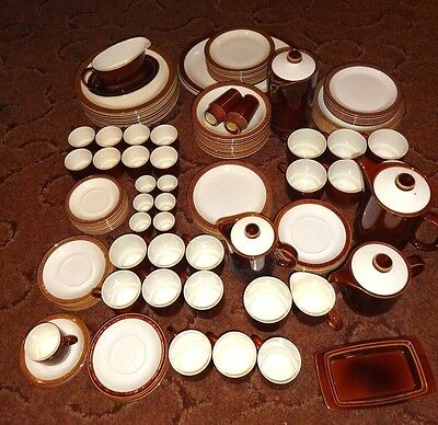 "POOLE POTTERY ""Chestnut"" Dinner Set Items Plates Bowls Cups Saucers FREE UK P&P"