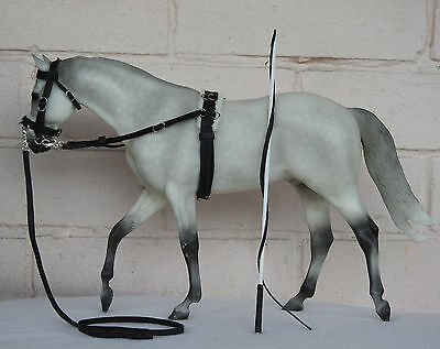 Handmade Model horse tack lunge lunging set to fit 1:9 scale Traditional breyer