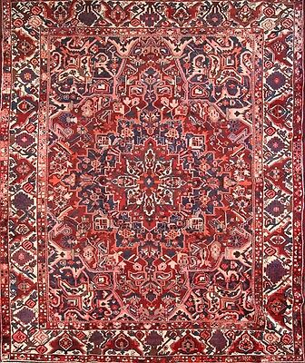 Great Condition Geometric Hand Knotted 10x12 Bakhtiari Persian Oriental Area Rug