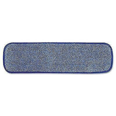Rubbermaid Commercial HYGEN Microfiber Damp Room Mop Pad, 18-Inch, Blue New