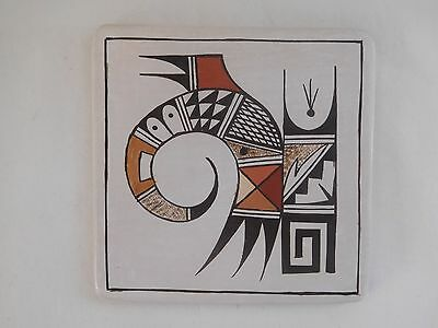 """One-Of-A-Kind  Hopi Indian Pottery """"tile"""" By Season Black Grandaughter Of Rainy"""