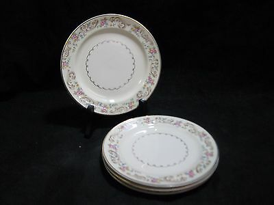 Paden City Pottery DUCHESS Pattern Bread and Butter Plate Set of 4