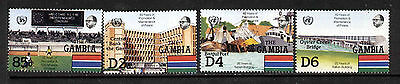 Gambia 577-80 MNH Architecture, Bridge, Soccer Stadium, Ships