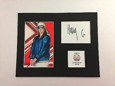 Limited Edition HONEY G Fully Signed Mount Display AUTOGRAPH X FACTOR MUSIC