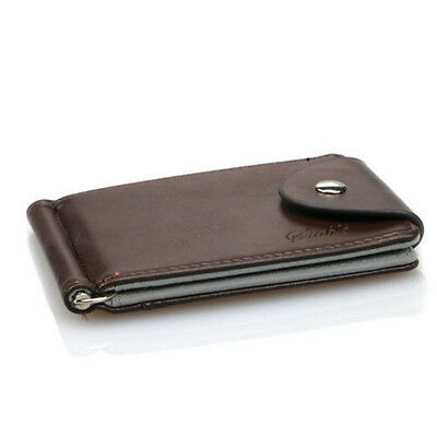 Men Front Pocket Wallet Bifold Purse Leather ID Card Cash Holder Money Clip Slim