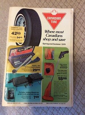 Canadian Tire Catalog 1978 Spring & Summer Bikes Fishing Tools Household