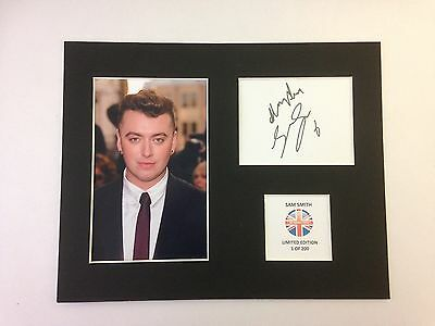 Limited Edition SAM SMITH  Music Signed Mount Display Lay Me Down