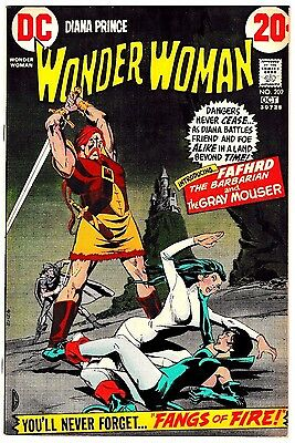 WONDER WOMAN #202 (VF/NM) 1st Fafhrd & Gray Mouser! +Catwoman Appearance! LQQK