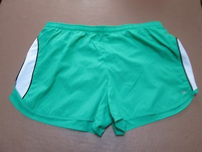 Fine green nylon running shorts by Champion, size Large