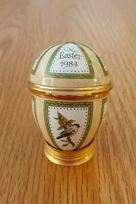 Halcyon Days Bilston and Battersea Enamels Easter Egg 1984 Rare
