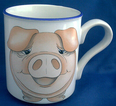 Arthur Wood Collectible Front & Rear Animal Mug.  Cheeky Pig With Wiggly Tail