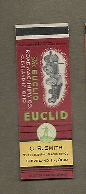 Euclid Road Machinery Co Cleveland Ohio Flat Matchcover A427