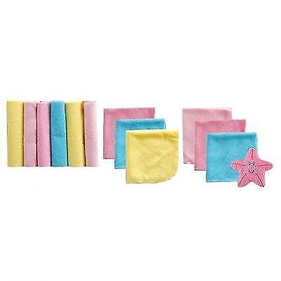 Luvable Friends 12 Washcloths In Bag with Bonus Toy, Pink New