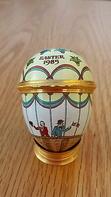 Halcyon Days Bilston and Battersea Enamels Easter Egg 1985 Hot Air Balloon