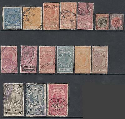 Italy Kingdom Administrativi Revenues 16 diff used stamps collection Bft cv $42