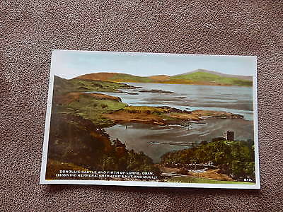 Hendersons RP Postcard-Dunollie Castle & Firth of Lorne - Oban  Argyll & Bute