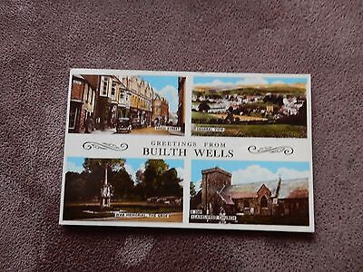 Postcard - Builth Wells Multiview - Powys / Brecknockshire - Wales