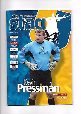 Mansfield Town  v  Carlisle United, 22nd April 2006