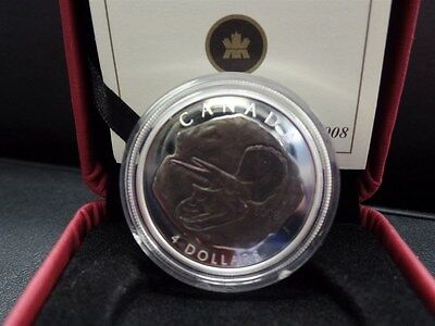 2008 Canada Triceratops Fossil $4 Silver Coin