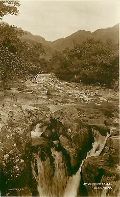 p0810 Lower Falls, Glen Nevis, Scotland postcard Judges RP