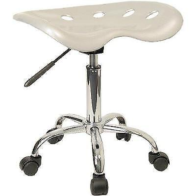Vibrant Silver Tractor Seat and Chrome Stool New