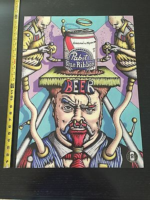 "Denton Burrows Pabst Art Series Poster!! 24"" X 18"" ART POSTERS Great For Framing"