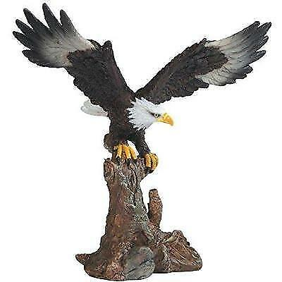 "StealStreet Bald Eagle On Brown Branch Figurine, 6.75"" New"