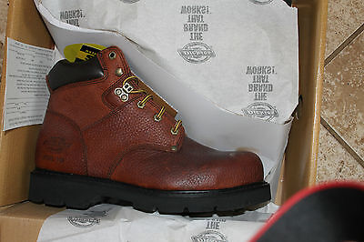 Dickies Steel Toe Work Boots Style: WD6355 Size 10W Brown