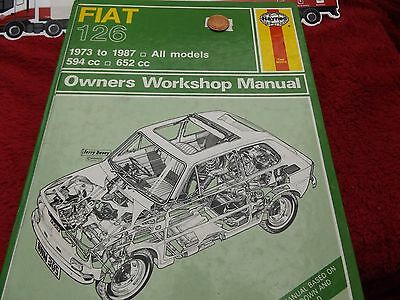 Haynes Manual Fiat 126 1973 To 1987 All Models 594Cc 652Cc